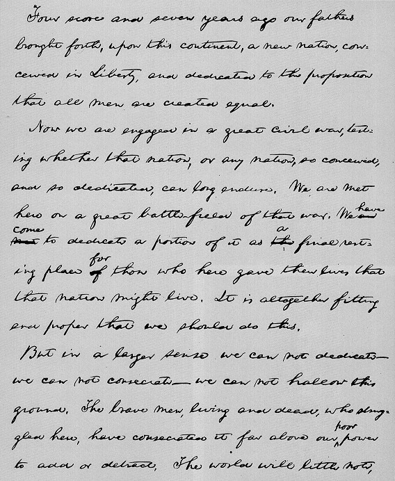 A comparison of the gettysburg address and a letter to his son