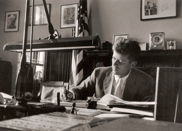 The History Place John F Kennedy Photo Politician At His Desk