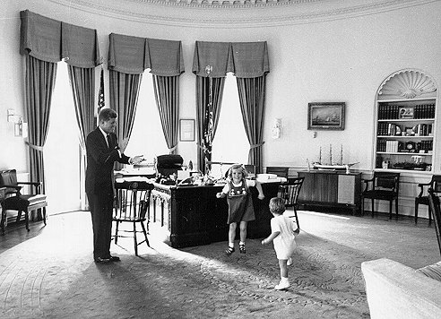 jfk in oval office.  Jfk Inside The Oval Office President Kennedy Encourages Caroline And John Jr  To Dance October 1962 For Jfk In Office T