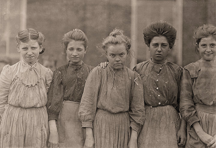 Faces of Lost Youth: Adolescent girls from Bibb Mfg. Co. in Macon