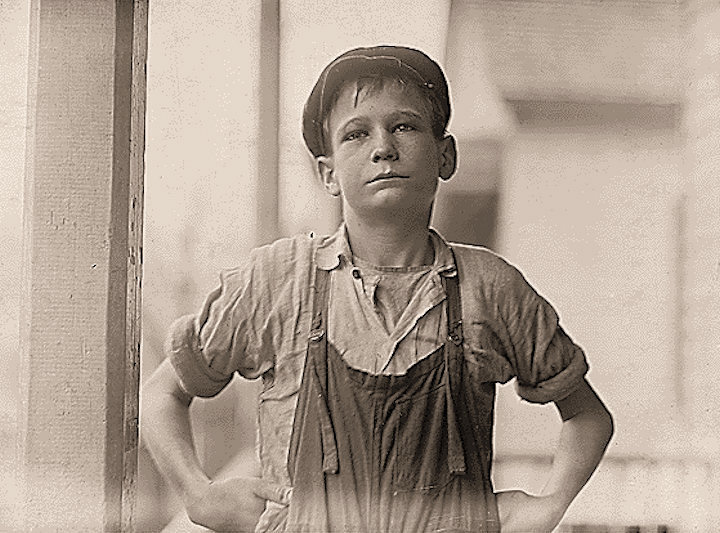 "Furman Owens, 12-years-old. Can't read. Doesn't know his A,B,C's. Said, ""Yes I want to learn but can't when I work all the time."" Been in the mills 4 years, 3 years in the Olympia Mill. Columbia, South Carolina."