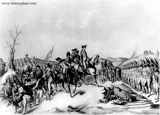 A picture of the Hessians surrendering