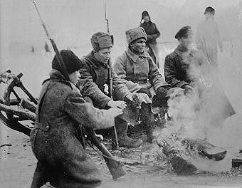 Russian soldiers doing a lull World War 1 Russian Soldiers