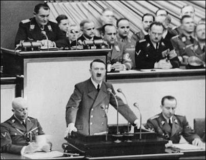 Image result for hitler reichstag speech