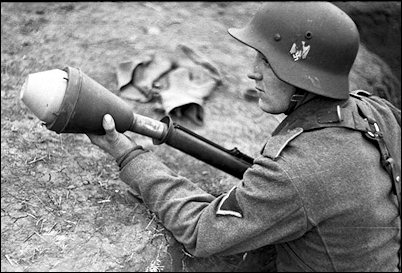 The last reserves--ever younger--learn how to fire anti-tank Panzerfausts to stop the Russians.