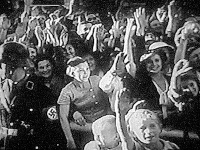 A scene from Leni Riefenstahl's Nazi propaganda film 'Triumph of the Will'