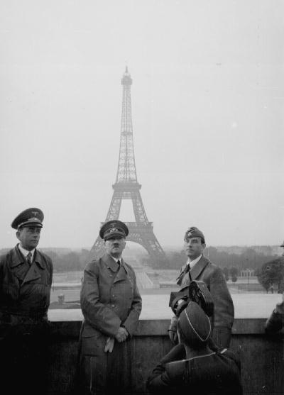 Adolf Hitler visits Paris with architect Albert Speer (left) June 23, 1940